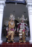 INDONESIA CREATIVE JOBS. President Joko Widodo (left) and one of his officials wear Solo Batik Carnival costumes  at Solo, Java, Indonesia. Indonesian business Stock Photography
