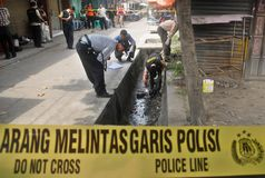INDONESIA CRIME SCENE INVESTIGATOR Stock Photos