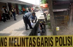 INDONESIA CRIME SCENE INVESTIGATOR Royalty Free Stock Photography