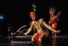 INDONESIA DAYAK BORNEO DANCE royalty free stock photos