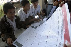 INDONESIA DIRECT ELECTION SCRAP BILL Stock Image
