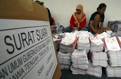 INDONESIA DIRECT ELECTION SCRAP BILL Stock Images