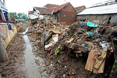 Indonesia Disaster Flash Flood - Garut 051. At 11pm on 20th September a flash flood occurred in the city of Garut, West Java, in Indonesia. At least 43 people stock photo