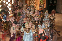 Indonesia dolls for theatre Royalty Free Stock Image