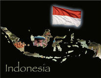 Indonesia Educational Poster Royalty Free Stock Images