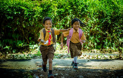 Indonesia elementary school student Stock Photos
