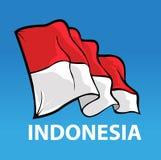 indonesia för bakgrundsflaggaillustration nationell white Fotografering för Bildbyråer