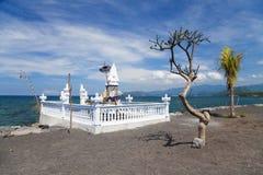 indonesia för bali strandcandidasa tempel Arkivbilder