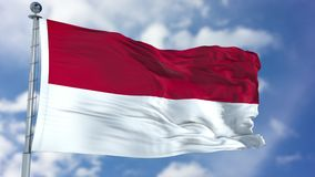 Indonesia Flag in a Blue Sky vector illustration