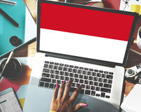 Indonesia Flag Country Nationality Liberty Concept Stock Images