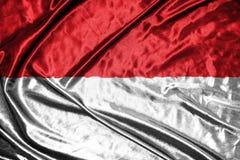 Indonesia flag.flag on background Royalty Free Stock Photos