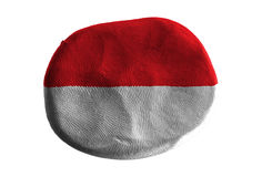 Indonesia flag,flag clay on white background royalty free stock images