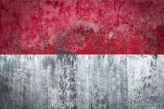 Indonesia Flag painted on a Wall. Ddistressed Painting of a Flag on an old Wall Royalty Free Stock Images
