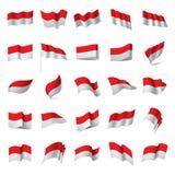 Indonesia flag, vector illustration. On a white background stock illustration