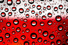 Indonesia flag. In waterdroplet reflection Stock Image