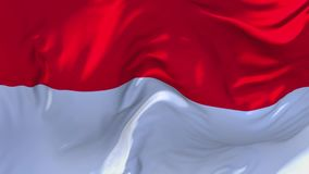 121. Indonesia Flag Waving in Wind Continuous Seamless Loop Background.