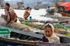 Indonesia - floating market in Banjarmasin Stock Photos