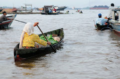 Indonesia - floating market in Banjarmasin Stock Image