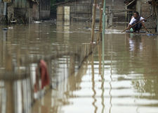 INDONESIA FLOODING PROBLEM Stock Photo