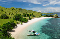 Indonesia, Flores, Komodo National Park. Beach in the Komodo National Park - paradise islands for diving and exploring. The most populat tourist destination in Royalty Free Stock Photography
