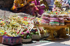 Indonesia. Gifts to gods on a religious holiday Royalty Free Stock Photos