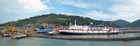 Indonesia harbour Stock Photos