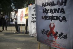 INDONESIA HIV AIDS SPREAD TREND Stock Images