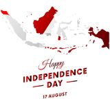 Indonesia Independence day. Indonesia map. Vector illustration. Indonesia Independence day. Indonesia map Royalty Free Stock Photo