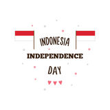 Indonesia Independence Day. Vector illustration. Indonesia Independence Day poster. Vector illustration. Banner Royalty Free Stock Image