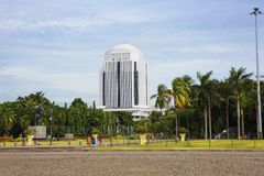 Indonesia. Jakarta. The architecture of the city around the National monument. royalty free stock photography