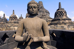 Indonesia, Java, Borobudur: Temple Royalty Free Stock Photo