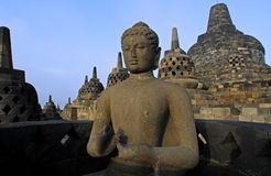 Indonesia, Java, Borobudur: Temple Royalty Free Stock Images