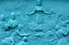 Indonesia, Java: Frescoes; Bas Relief Royalty Free Stock Images