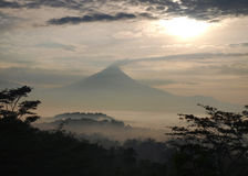 Indonesia, Java, Merapi Eruption Royalty Free Stock Photos