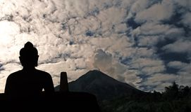 Indonesia, Java: Merapi eruption, may 2006 royalty free stock photo