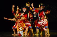 INDONESIA JAVA WAYANG WONG THEATRE Royalty Free Stock Images