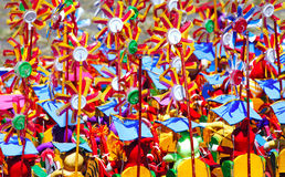 Indonesia, Java: windmills. Indonesia, Java: a thousand of colorful windmills royalty free stock photography