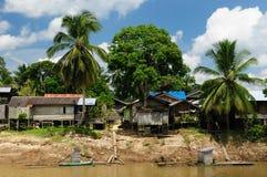 indonesia kepala rzeczna stilt wioska Obrazy Royalty Free