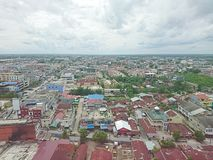 Indonesia landscape. View of houses in Indonesia Pekanbaru Royalty Free Stock Photos
