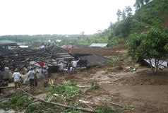 INDONESIA LANDSLIDE Stock Images