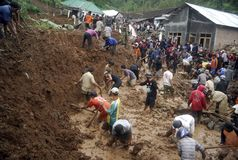 INDONESIA LANDSLIDE Stock Photos