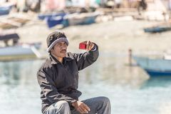 Indonesia: local people taking selfie Royalty Free Stock Images