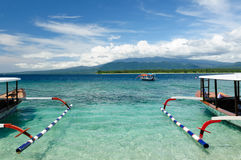 Indonesia, Lombok. Gili islands. Gili islands near the Bali island. The most populat tourist destination in Indonesia, Nusa tenggara Stock Image