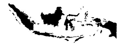 Indonesia  map silhouette. Indonesia  map silhouette isolated on white background silhouette. High detailed illustration Royalty Free Stock Images