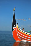 Indonesia Maritime's Regulation. A fisherman was on the boat at Muncar Beach, Banyuwangi, East Java, Indonesia. The ministry of Maritime and Fisheries forbids royalty free stock image