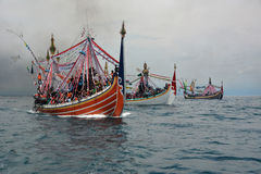 Indonesia Maritimes Regulation. The fisherman was on the boat at Muncar Beach, Banyuwangi, East Java, Indonesia Stock Photo