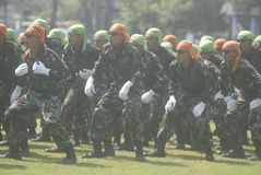 INDONESIA MILITARY ARMY ARMED FORCES NEW SECURITY CHALLENGE Stock Image