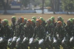 INDONESIA MILITARY ARMY ARMED FORCES NEW SECURITY CHALLENGE Stock Photography