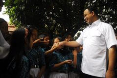 INDONESIA MINISTER OF EDUCATION ANIES BASWEDAN Royalty Free Stock Images