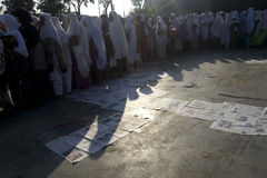 INDONESIA MUSLIM GATHERING AFTER PRAYER Royalty Free Stock Image